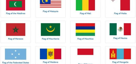 Flags of countries beginning with M