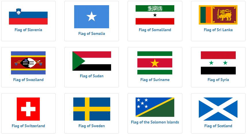 Flags of countries beginning with S 2