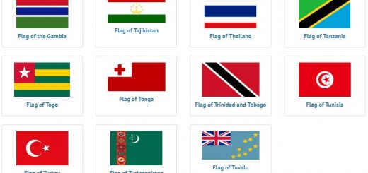 Flags of countries beginning with T