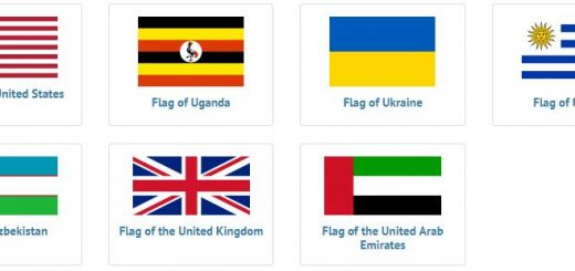 Flags of countries beginning with U