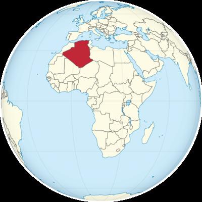 Algeria Location Map