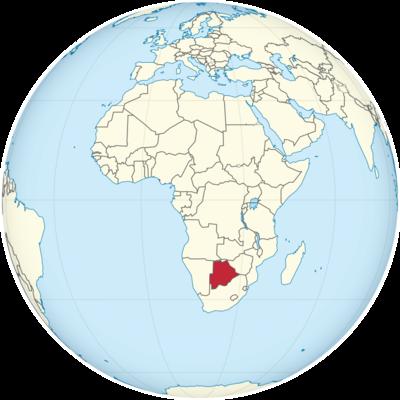 Botswana Location Map
