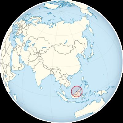Brunei Location Map