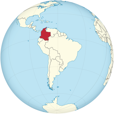 Colombia Location Map