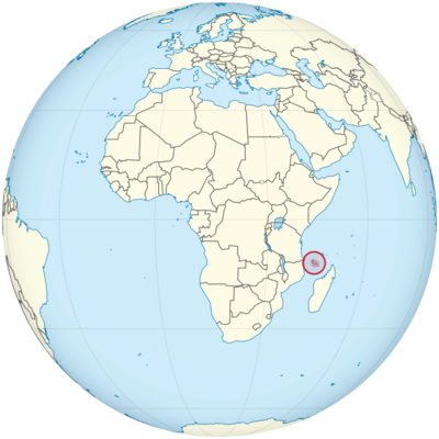 Comoros Location Map