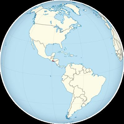 El Salvador Location Map