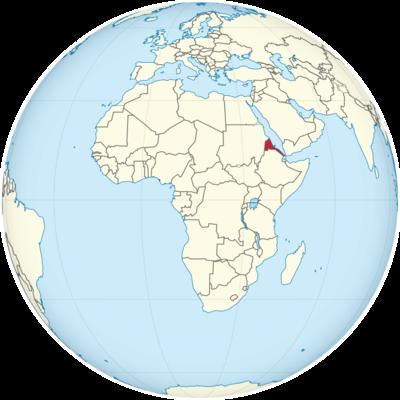 Eritrea Location Map