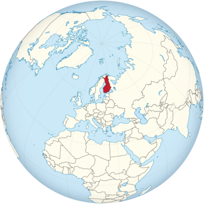 Finland Location Map