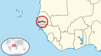 Gambia Location Map
