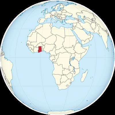 Ghana Location Map