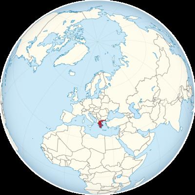 Greece Location Map