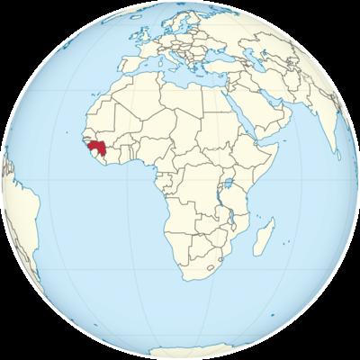 Guinea Location Map