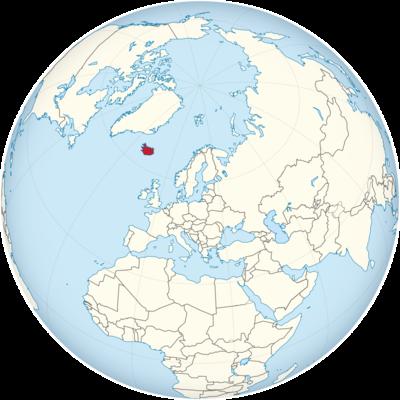 Iceland Location Map
