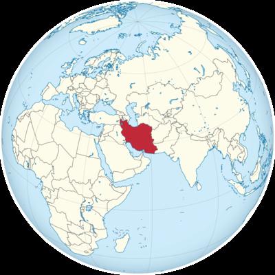 Iran Location Map
