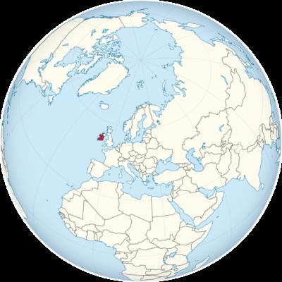 Ireland Location Map
