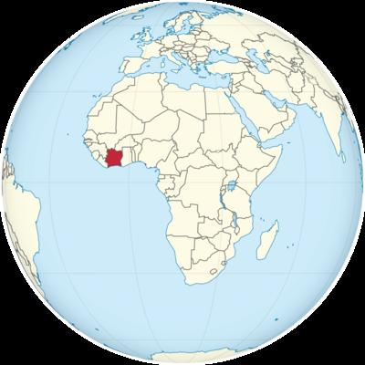Ivory Coast Location Map