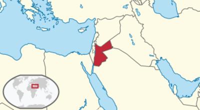 Jordan Location Map