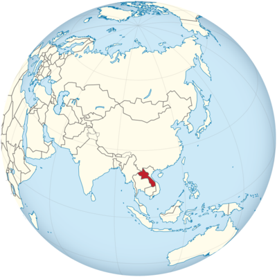 Laos Location Map