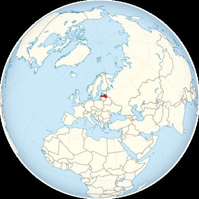 Latvia Location Map
