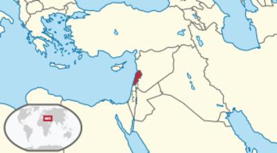 Lebanon Location Map