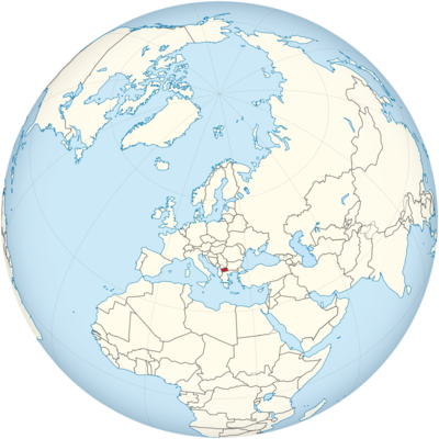 Macedonia Location Map