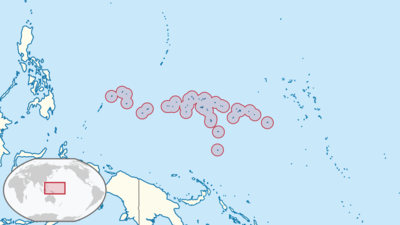 Micronesia Location Map