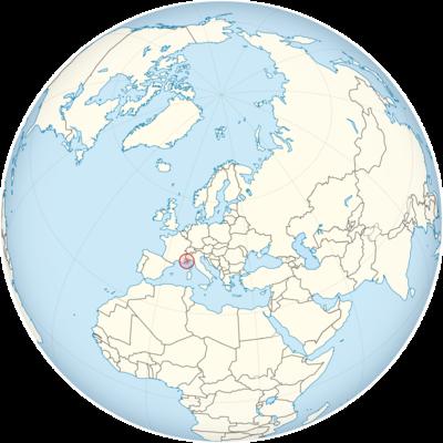 Monaco Location Map