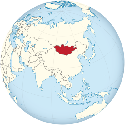 Mongolia Location Map