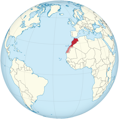 Morocco Location Map