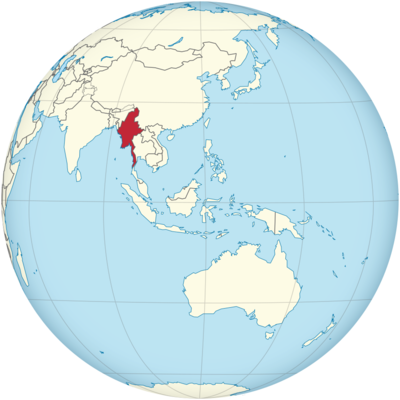 Myanmar Location Map