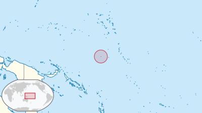 Nauru Location Map
