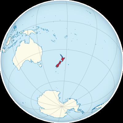 New Zealand Location Map