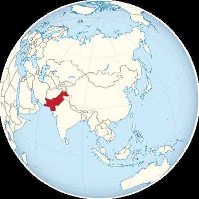 Pakistan Location Map