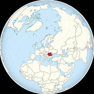 Romania Location Map