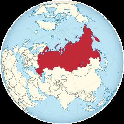 Russia Location Map