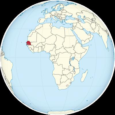 Senegal Location Map