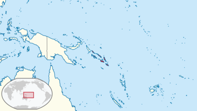 Solomon Islands Location Map
