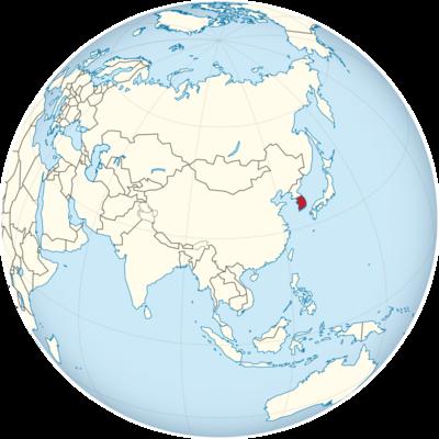 South Korea Location Map