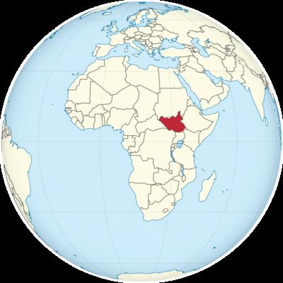 South Sudan Location Map
