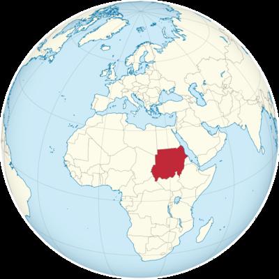Sudan Location Map
