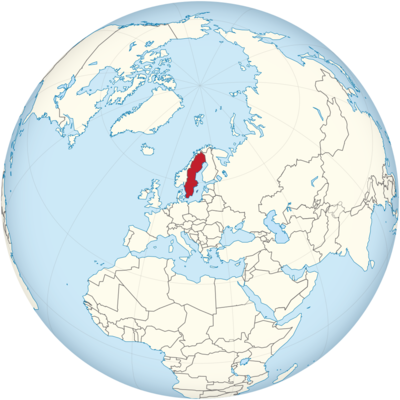 Sweden Location Map