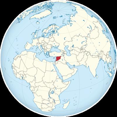 Syria Location Map