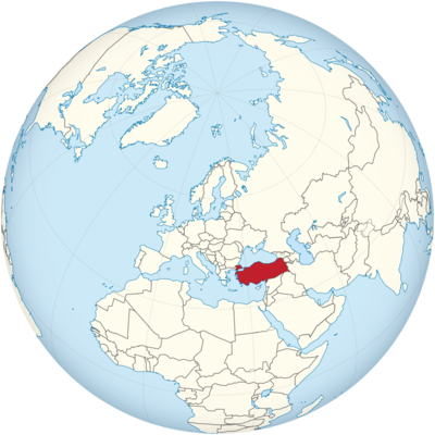 Turkey Location Map