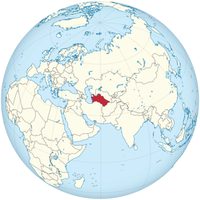 Turkmenistan Location Map