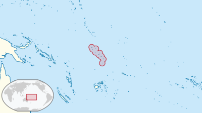Tuvalu Location Map
