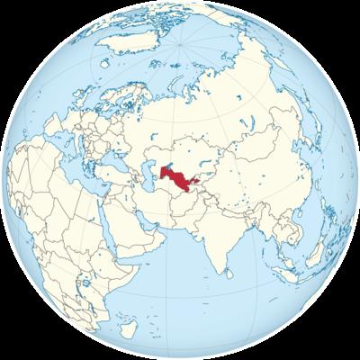 Uzbekistan Location Map