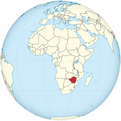 Zimbabwe Location Map