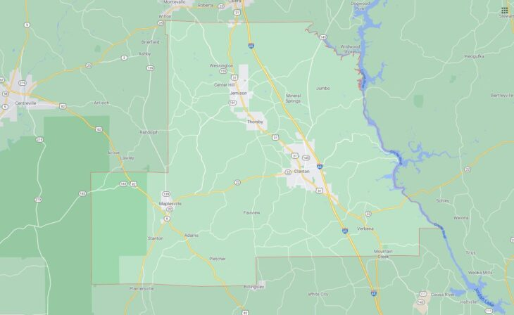 All Cities in Chilton County, Alabama