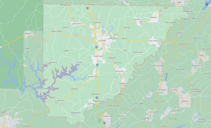 All Cities in Cullman County, Alabama