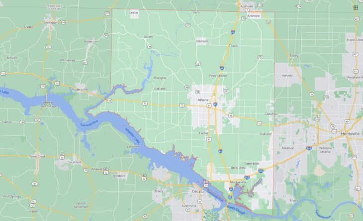 All Cities in Limestone County, Alabama
